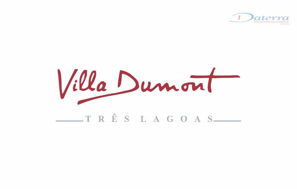 Terreno residencial à venda, Condomínio Villa Dumont, Três Lagoas.