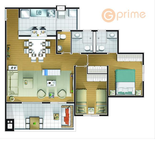 a vista que esse apartamento tem é incrível! você vai morar em um apartamento de 83m²...