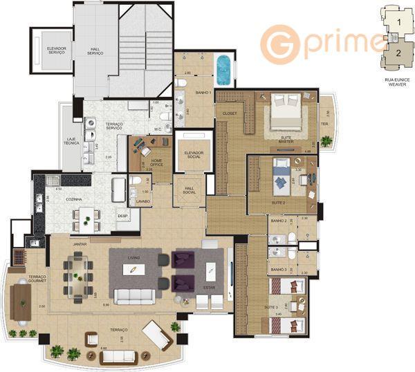 apartamento eunice weaver apto com 180 m², 3 suítes, terraço gourmet com churrasqueira, sala para 3...