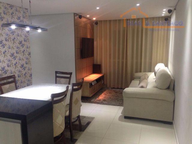 Apartamento residencial à venda, Vila Eldízia, Santo André -