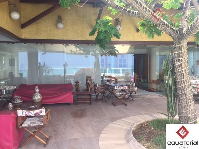 excelente cobertura duplex, beira-mar com vista espetacular, elevador privativo, com 900m², 04 suítes, sala para 04...
