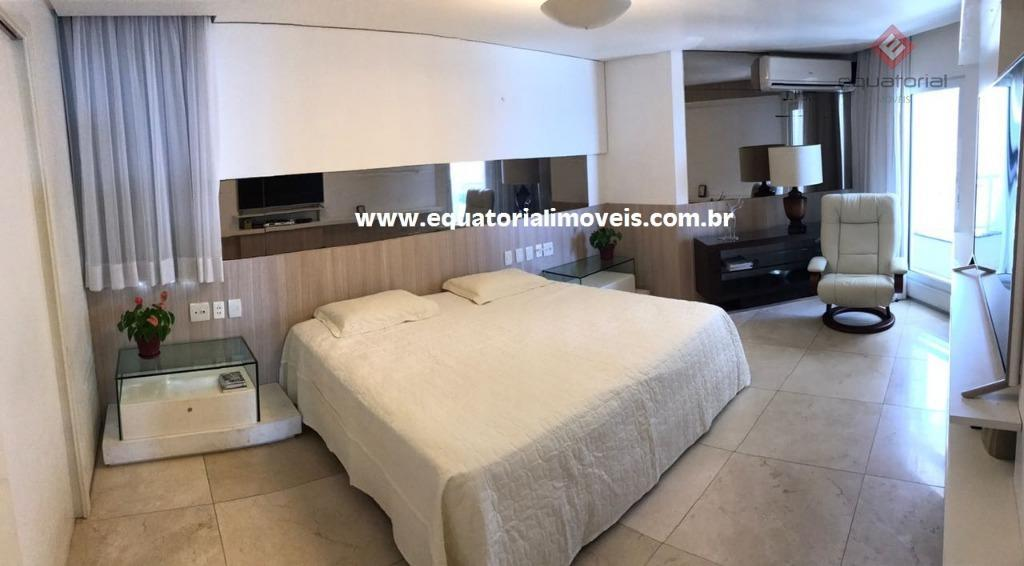 lindo apartamento no edifício catamarã condomínium, av. beira-mar, meireles, vista mar permanente, com 253m², projetado, com...