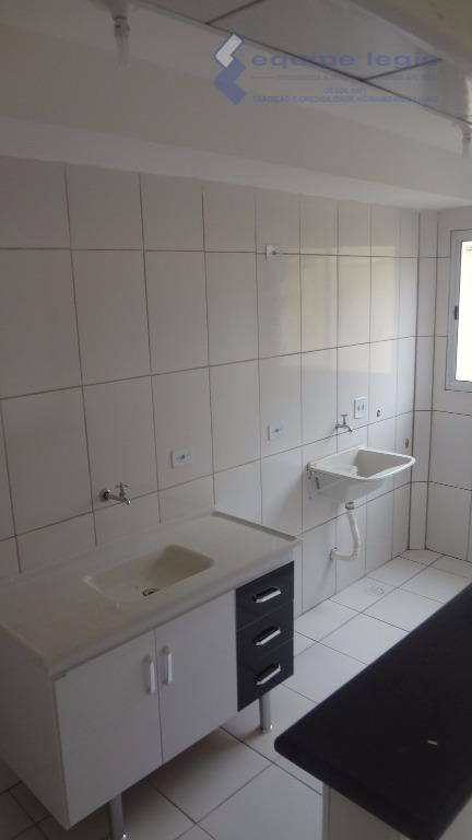apto com 2 dormitórios, sala, cozinha americana, banheiro, área de serviço, 1 vaga de garagem, área...