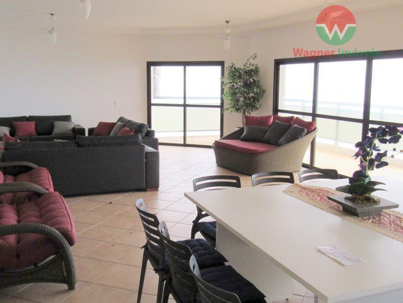 apartamento mobiliado para venda na praia das astúrias em guarujá, sala 3 ambientes com ventilador de...