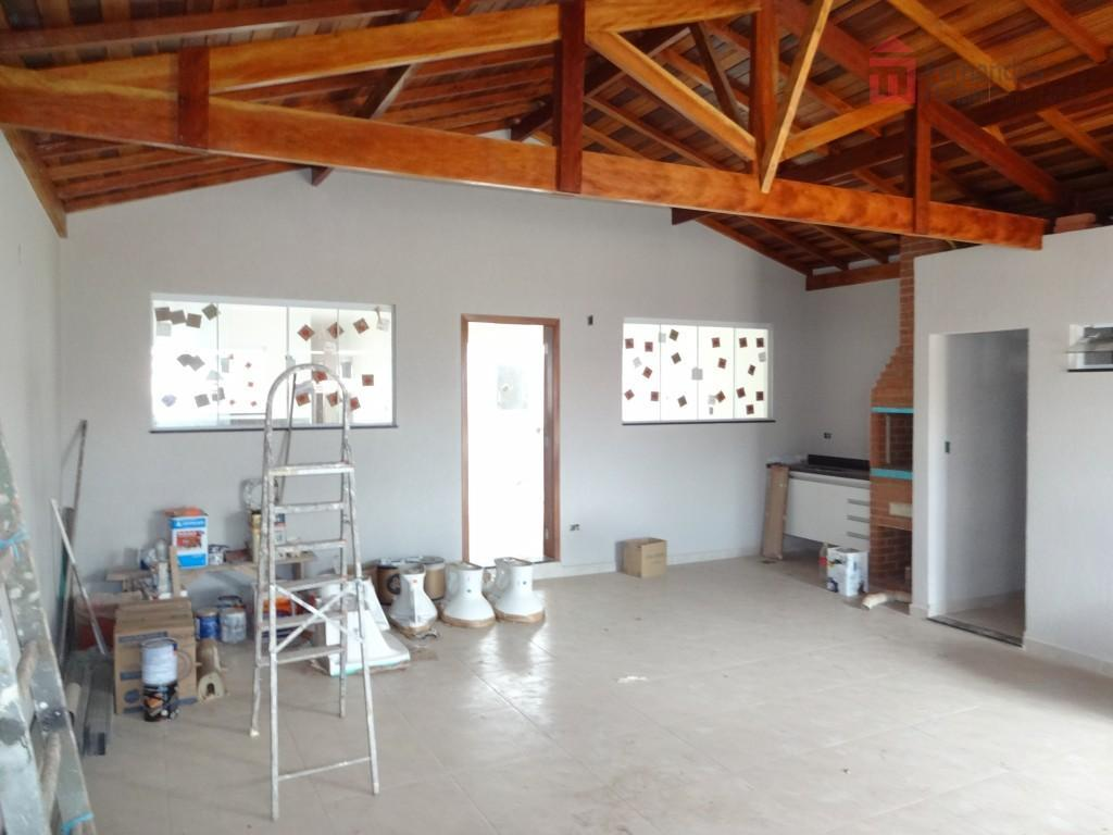 casa nova no bairro recanto da água branca com 3 suítes; sala ampla para 2 ambientes...