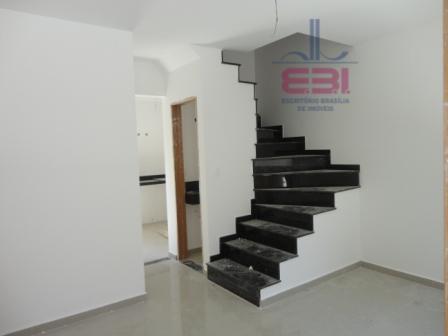excelente sobrado novo, em condomínio fechado, 2 dormitórios sendo 1 suíte, sala para 2 ambientes com...