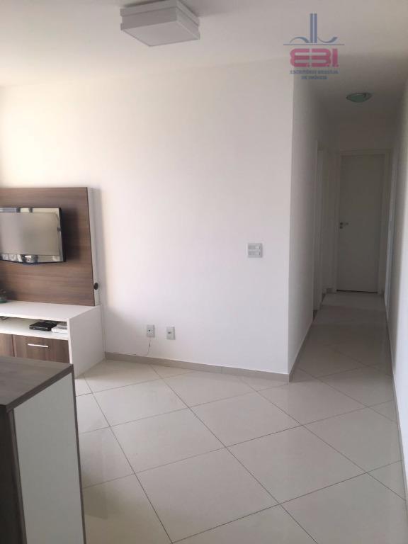 condomínio novo, próximo à avenida água fria, com 51m².com 2 dormitórios, armários planejados, sala para 2...
