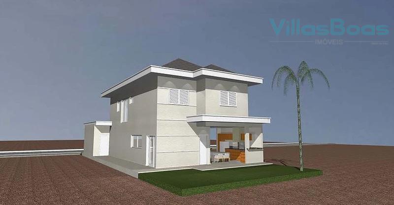 sobrado de alto padrão com os seguintes ambientes: pavimento superior:quatro dormitórios, sendo:suíte máster com closet e...