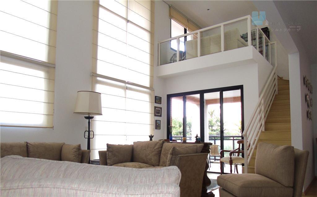 Venda - Apartamento 184m² com pé direito duplo na sala e mezanino - Vila Andrade