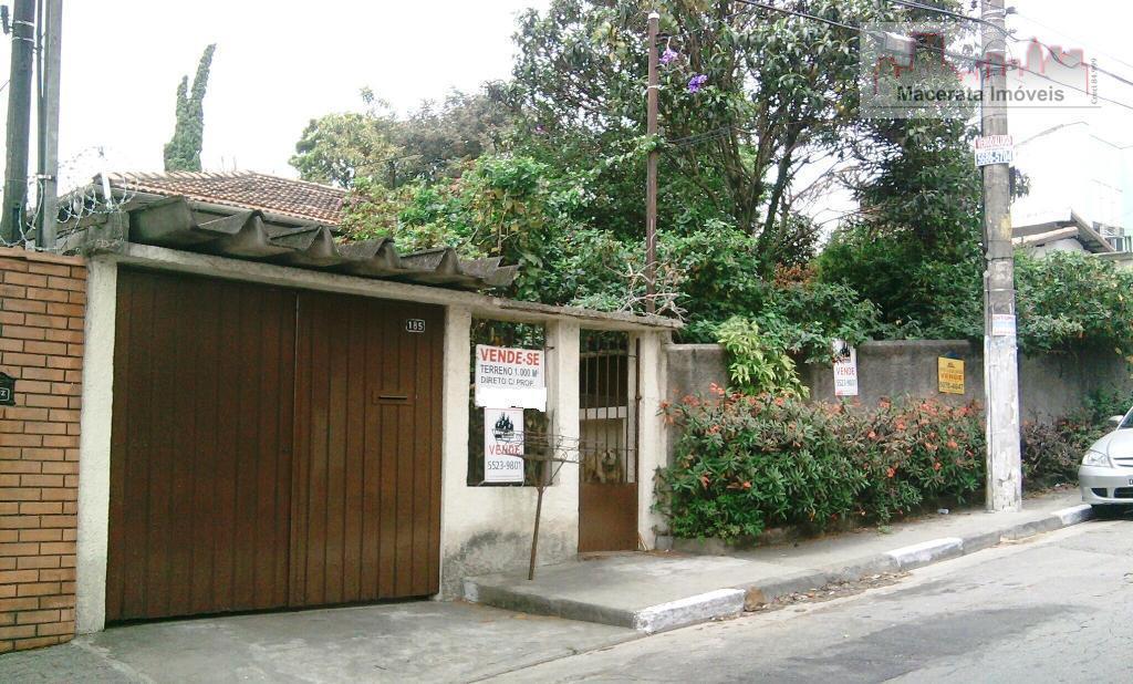 Terreno  residencial à venda, Cidade Ademar, São Paulo.