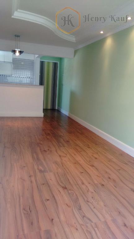 lindo apartamento com 59m² de área privativa, distribuídos em 1 suíte repleta de armários, 1 quarto...