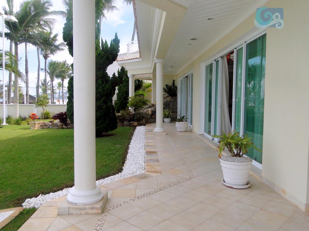 casa frente ao mar, praia da enseada - guarujá. mobiliada, 6 suítes, closet, , amplo living...