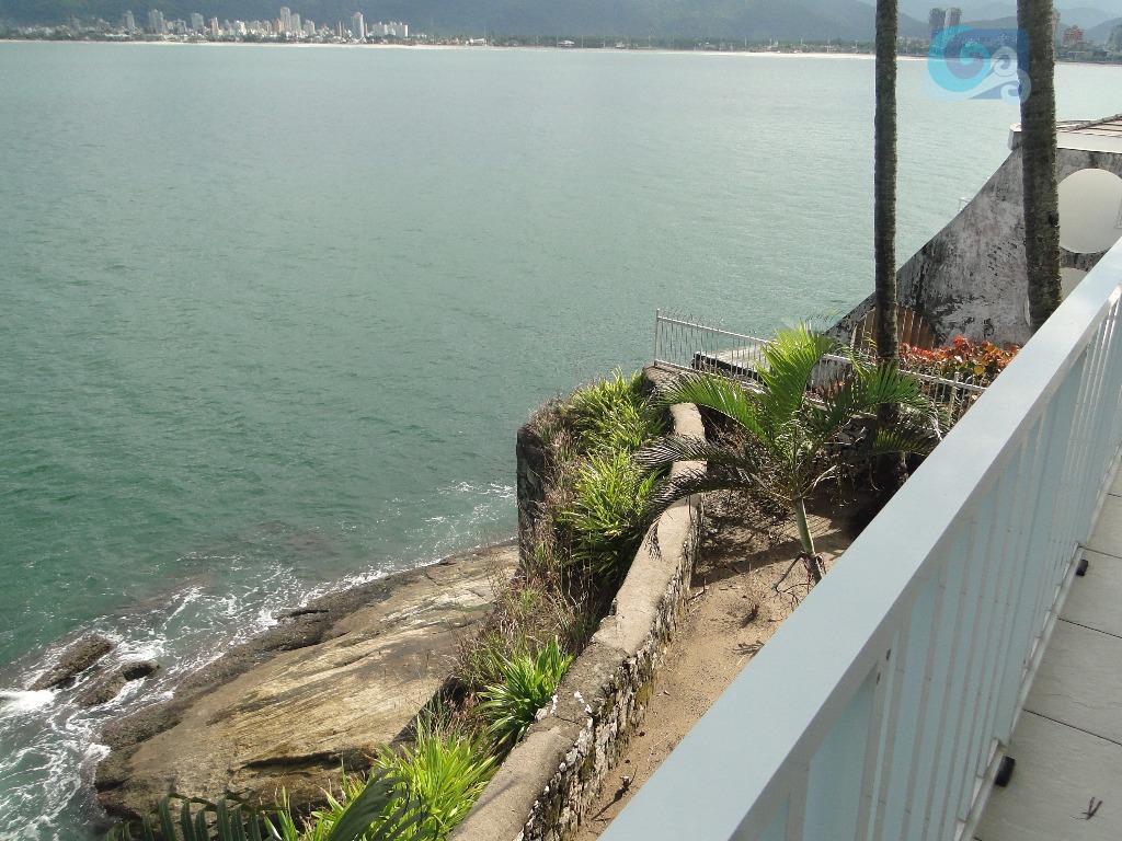 apartamento no condomínio península, praia da enseada - guarujá. frente total para o mar, reformado, mobiliado...