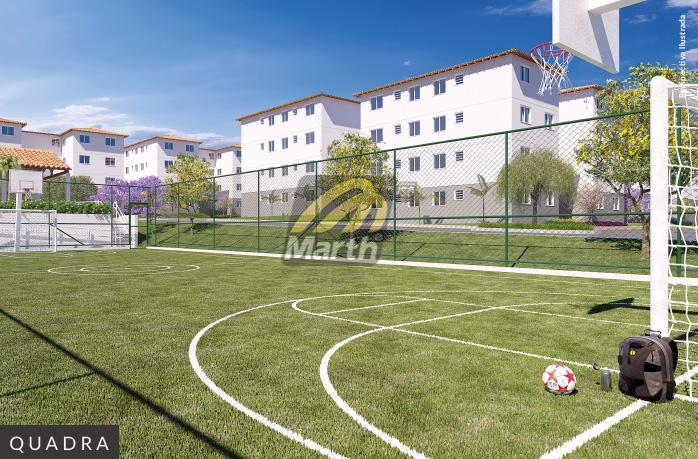 viva vida figueiras - santa terezinha apartamento com 48m², 2 quartos, sala, cozinha, banheiro uso do...