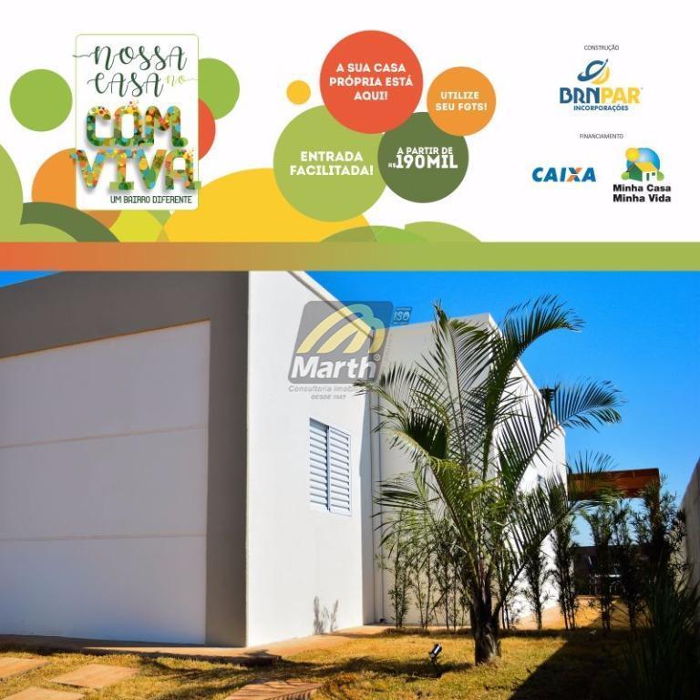 Casa residencial à venda, Santa Terezinha, Loteamento Comviva, Piracicaba.