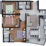 02 suítes, lavabo, sala, sacada, copa, cozinha, área de serviço, garagem 01 vaga.aceita proposta