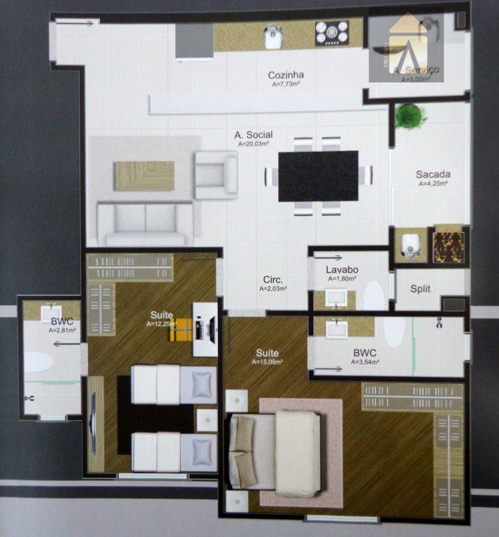 Apartamento residencial à venda, Centro, Camboriú - AP0245.