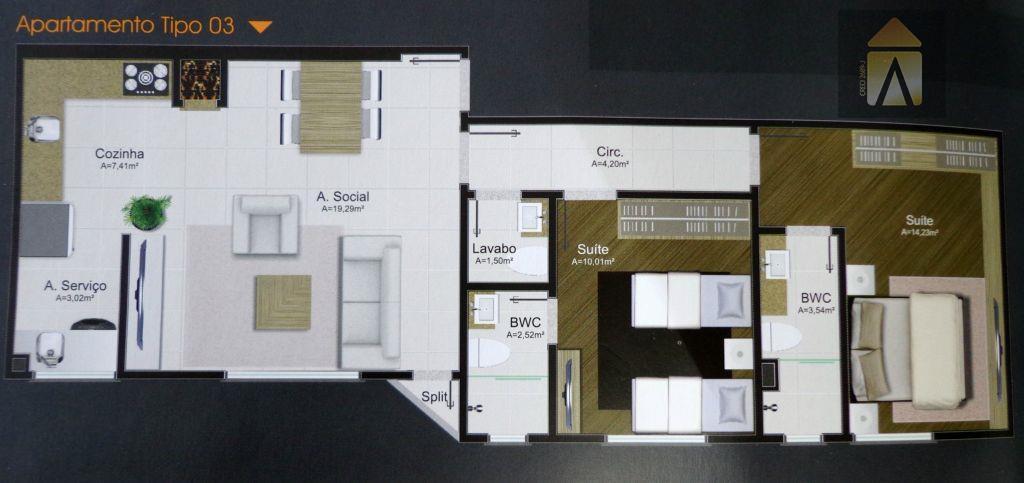 Apartamento residencial à venda, Centro, Camboriú - AP0249.