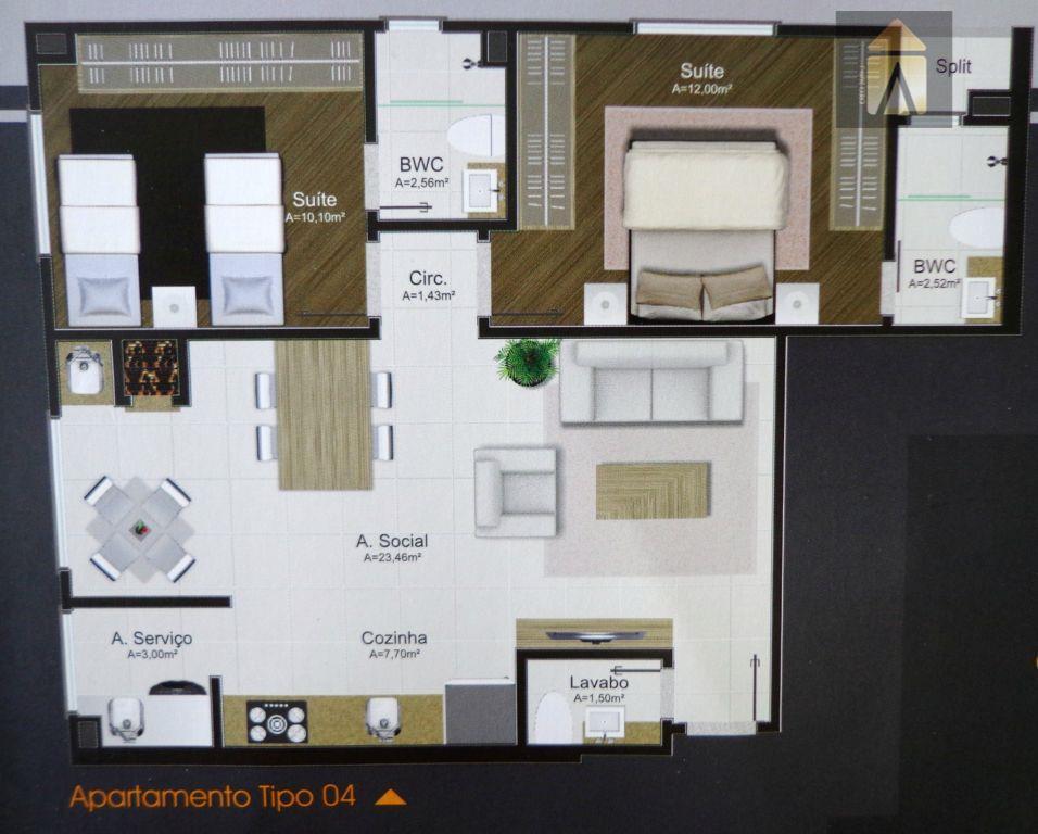 Apartamento residencial à venda, Centro, Camboriú - AP0255.