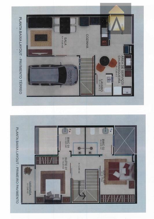 Sobrado residencial à venda, São Vicente, Itajaí - SO0048.