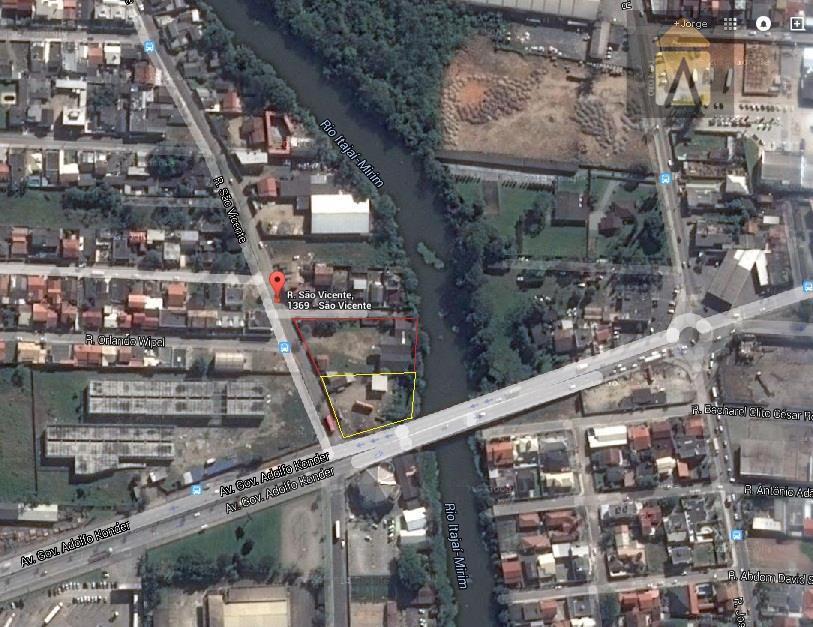 a área à venda é a delimitada pela linha vermelha.