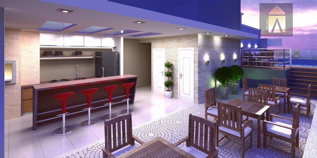 apartamentos 02 dormitórios, sendo uma suíte, área social integrada, sacada com churrasqueira, área de serviço, 01...