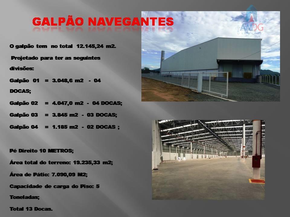 Galpão comercial para locação, São Domingos, Navegantes - GA0027.