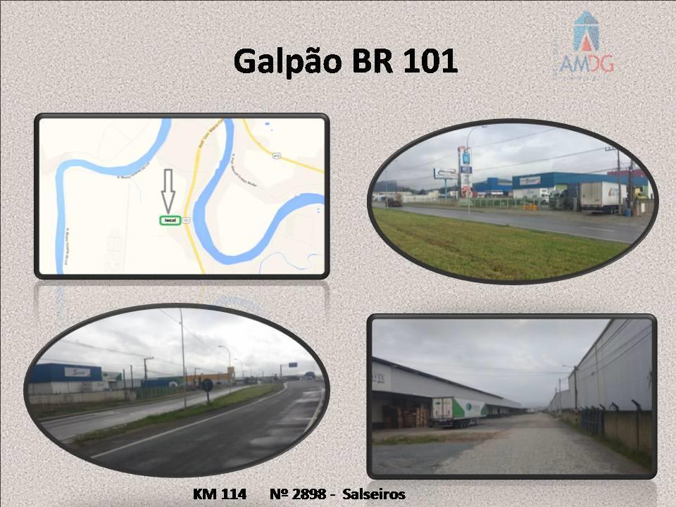 Galpão  industrial para locação, Salseiros, Itajaí.