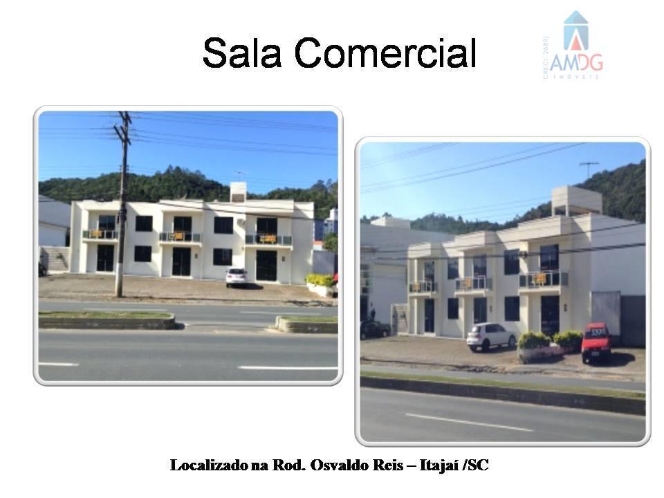 Sala comercial para locação, Itajaí