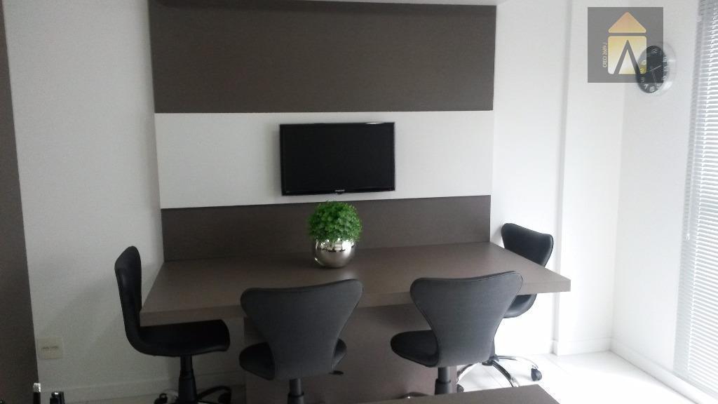 sala comercial finamente mobiliada, com 1 vaga, no coração de itajaí, em empreendimento de alta qualidade!!!sala...