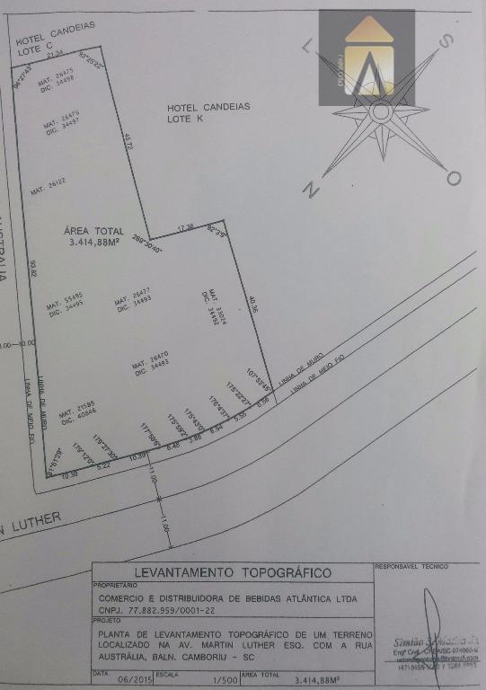 Terreno residencial à venda, Nações, Balneário Camboriú - TE0177.