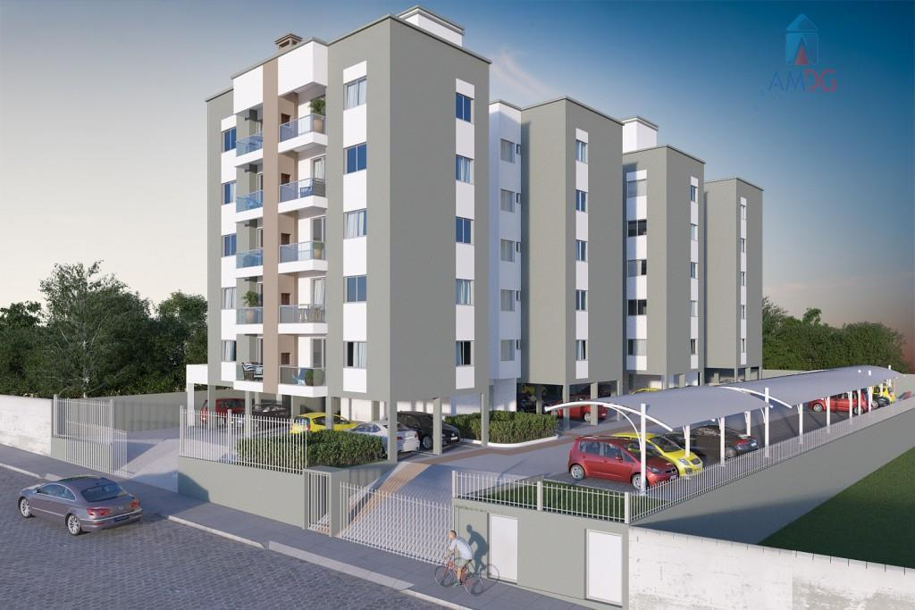 Apartamento residencial à venda, Santa Terezinha, Gaspar - AP1304.