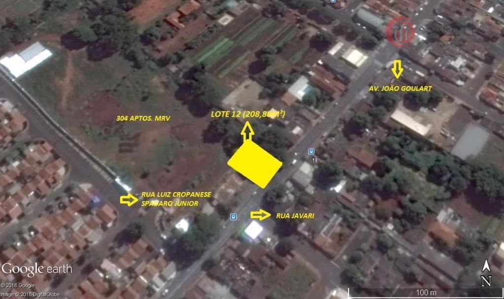 Terreno residencial à venda, Conjunto Habitacional Sílvio Passalacqua, Ribeirão Preto.