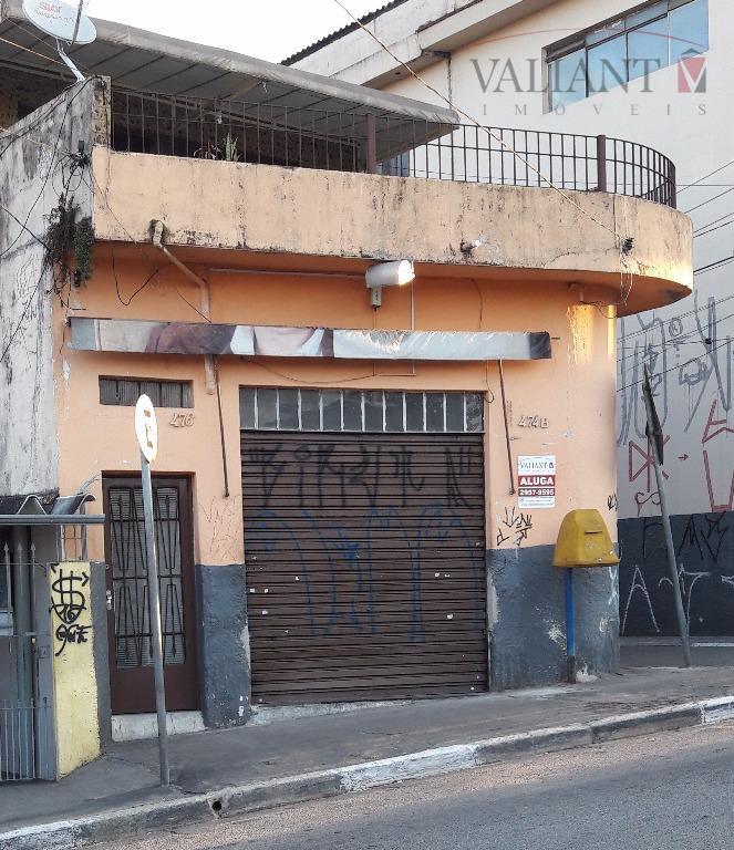 Salão  comercial para locação, Jardim Ponte Rasa, São Paulo.