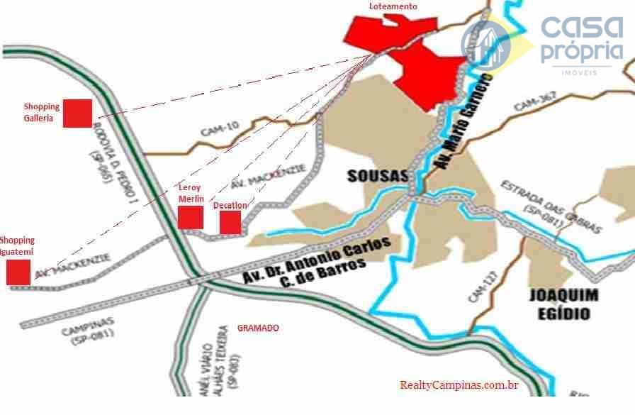 Entreverdes Rossi, Terrenos 1.000m2, Campinas