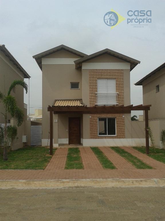 Casa Sobrado, com 120m2, 3 Suítes, Condomínio Sunset Boulevard, Paulinia, SP