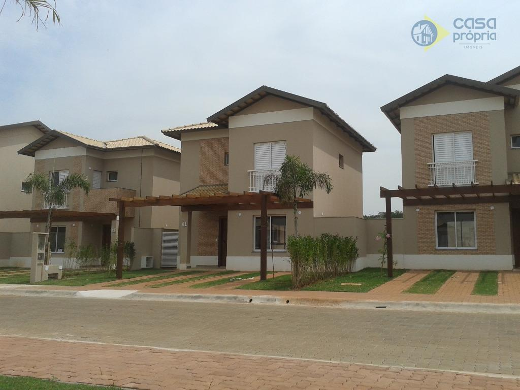Casa Nova, Aceita Financiamento e FGTS, 3 Dormitórios (3 Suítes), Sobrado, Condomínio Sunset Boulevard, Paulinia, SP