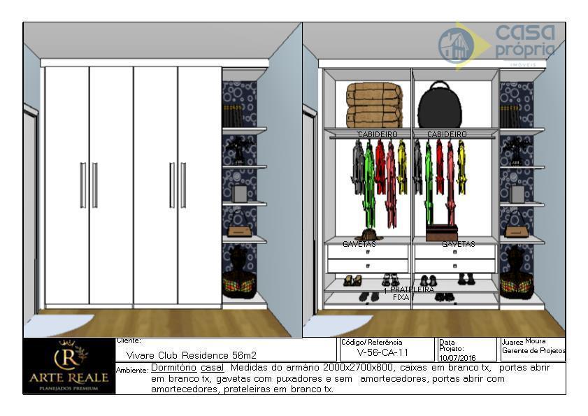 Apartamento Novo para Locação, 2 Dormitórios, 2 Vagas Garagens, Rico em Armarios Planejados, Parque dos Servidores, Paulínia, SP