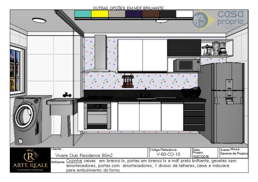 Apartamento Novo para Locação, 2 Dormitórios, 1 Vagas Garagem, Rico em Armarios Planejados, Parque dos Servidores, Paulínia, SP