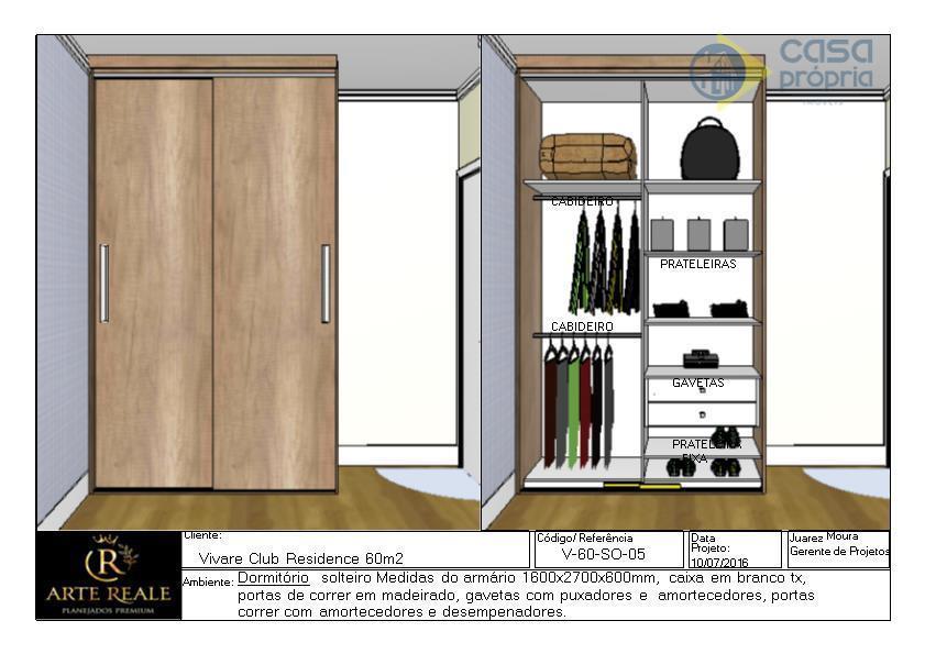 Apartamento TERREO com QUINTAL, Novo, 2 Dormitórios (1 Suíte),  2 Vagas Garagens, Rico em Armarios Planejados, Paulínia, SP