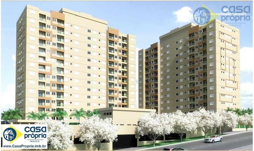 Apartamento 2 Dormitórios, com 56m2, 1 Vaga Garagem, Elevador, Sacada, Piscina, Churrasqueira, Perto do Teatro, Paulinia, SP