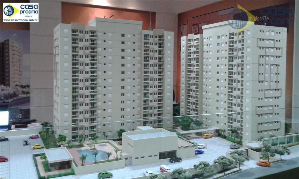Apartamento 2 Dormitórios, com 56m2, 2 Vaga no Subsolo, Elevador, Sacada, Piscina, Churrasqueira, Perto do Teatro, Paulinia, SP