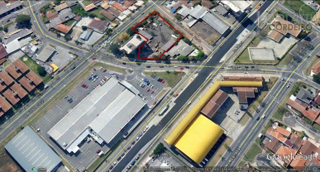 Terreno  comercial para locação, Santa Cândida, Curitiba.