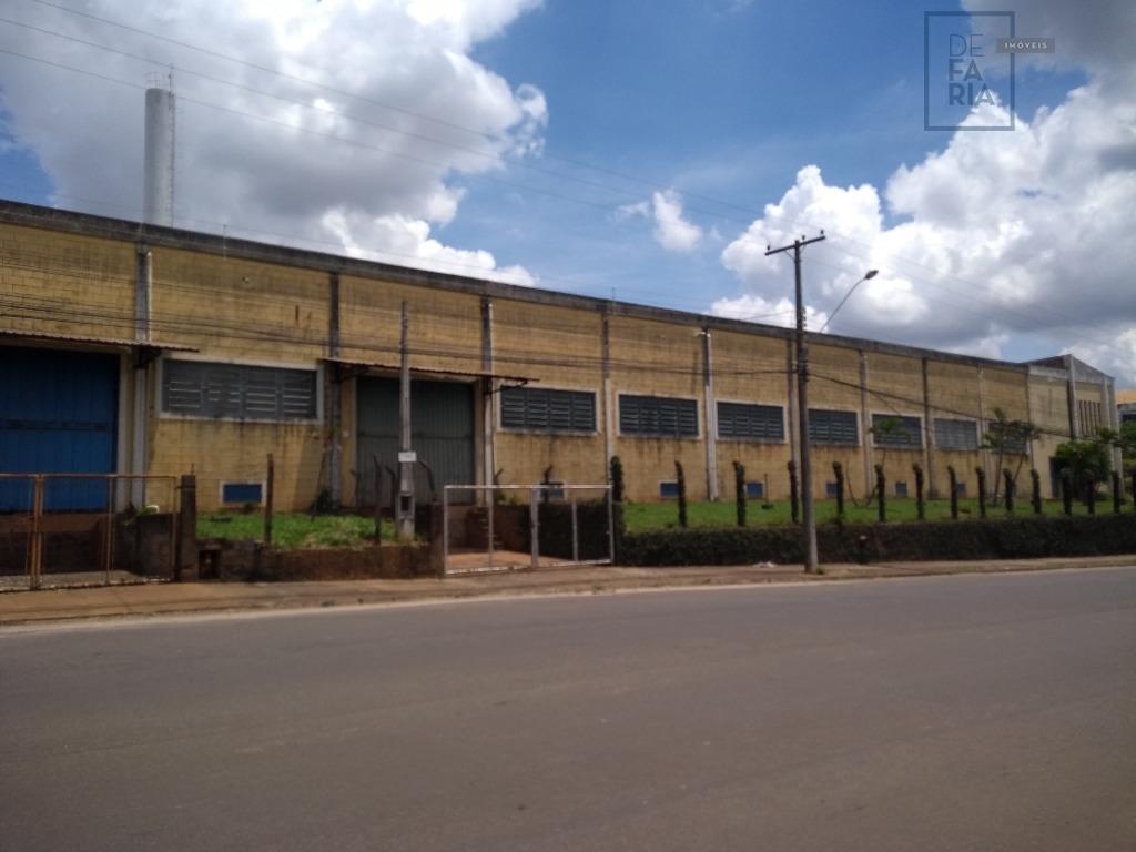 Galpão industrial para locação, Loteamento Industrial Nossa Senhora de Fátima, Americana.