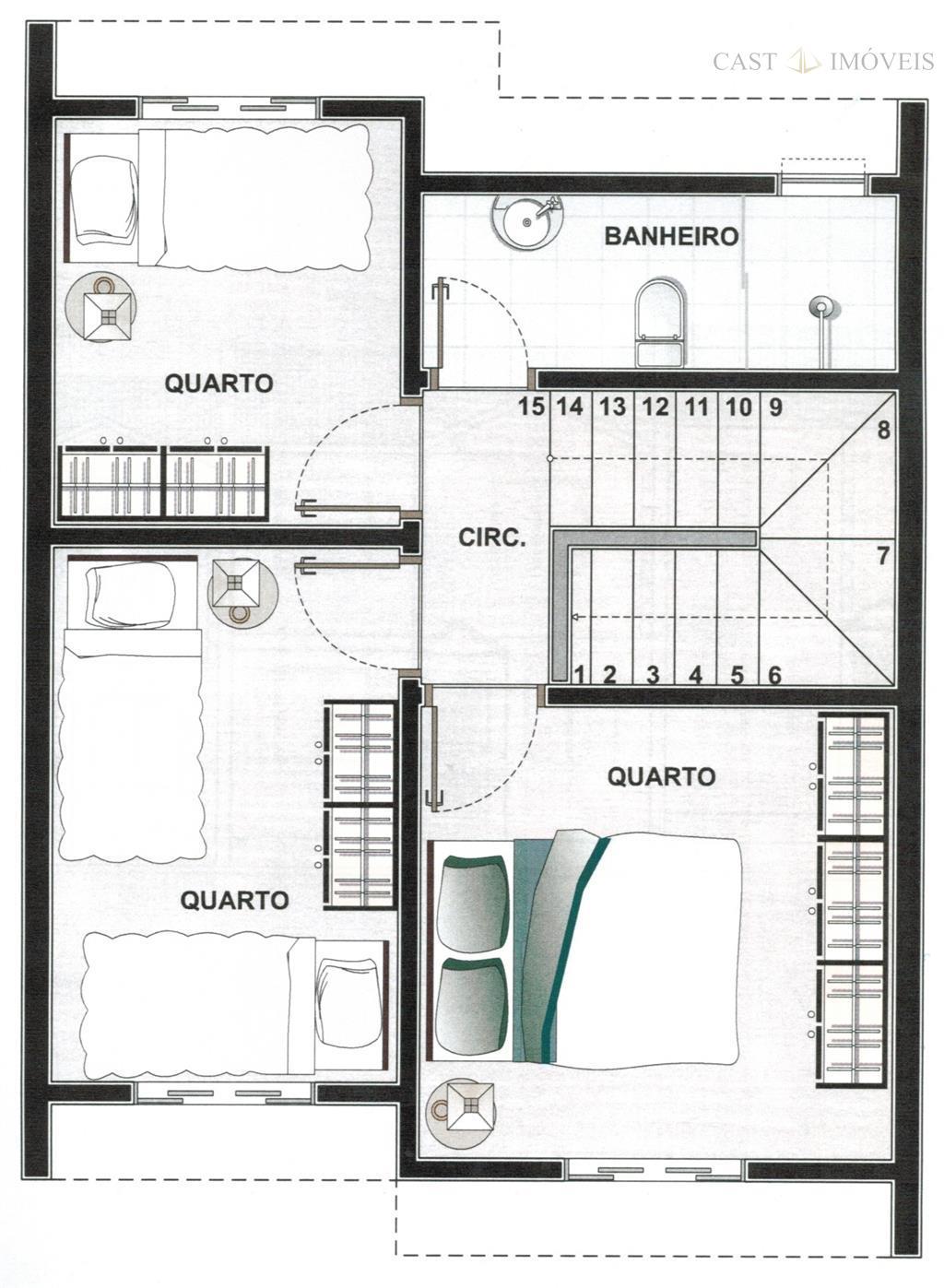 Sobrado de 3 dormitórios à venda em Tatuquara, Curitiba - PR
