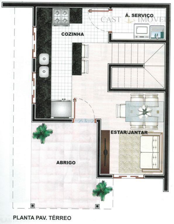 Sobrado de 3 dormitórios em Tatuquara, Curitiba - PR