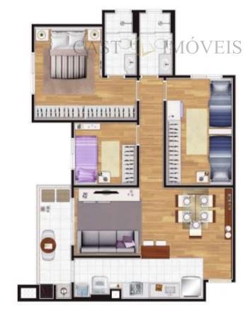 Apartamento de 2 dormitórios em Fanny, Curitiba - PR