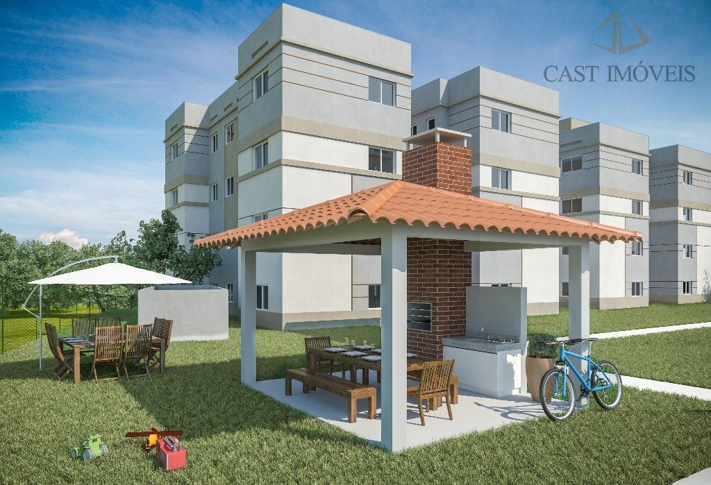 Apartamento de 2 dormitórios em Campo De Santana, Curitiba - PR