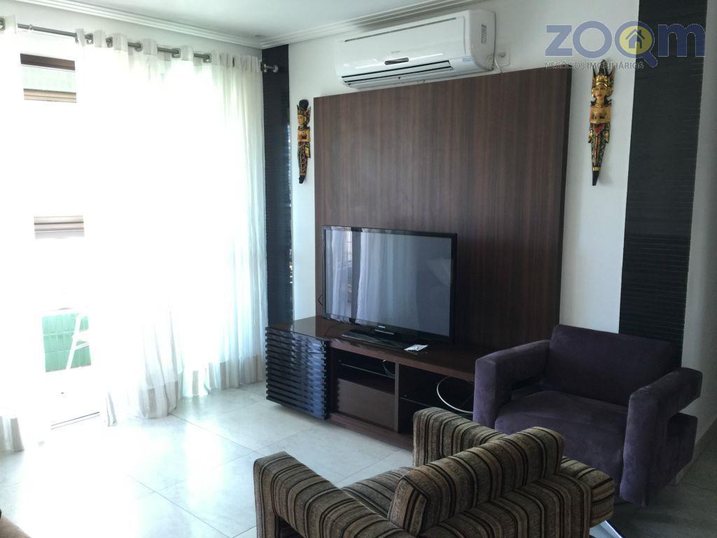 lindo apartamento todo mobiliado. 3 dormitórios com cama e armário sendo 1 suíte com closet. sala...