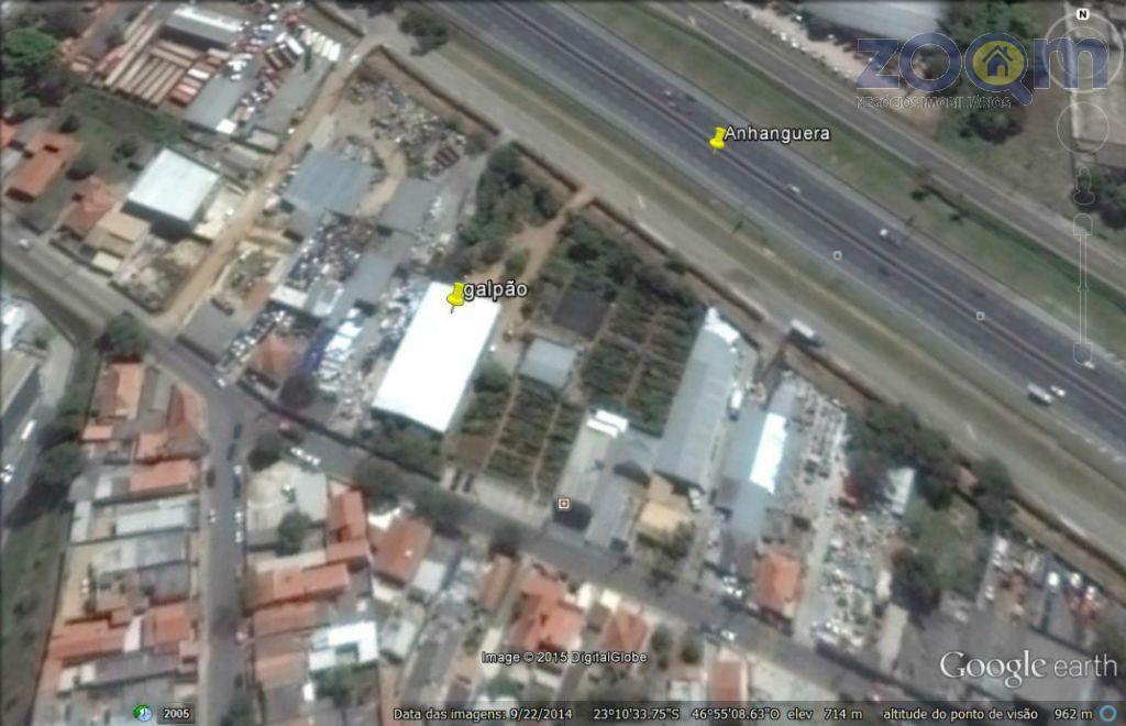 galpão 945 m² com terreno de 2522 m² na marginal da anhanguera excelente para comercio e...